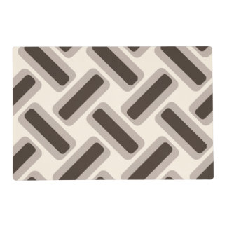 Beige and brown rectangles placemat