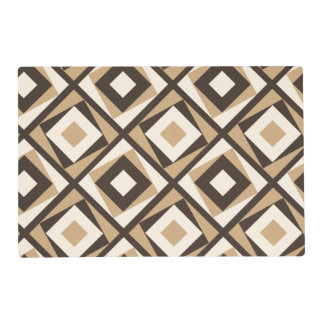 Beige and brown square diamonds placemat