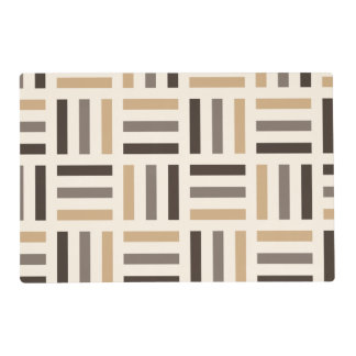 Beige and brown stripes placemat