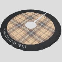 Beige and Brown Tartan Beige and brown tartan desi Brushed Polyester Tree Skirt