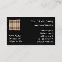Beige and Brown Tartan Business Card