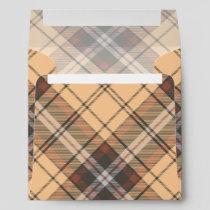Beige and Brown Tartan Envelope