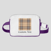 Beige and Brown Tartan Fanny Pack