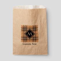Beige and Brown Tartan Favor Bag