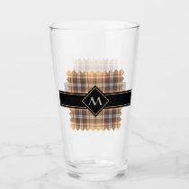 Beige and Brown Tartan Glass
