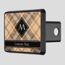 Beige and Brown Tartan Hitch Cover