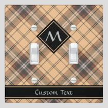Beige and Brown Tartan Light Switch Cover