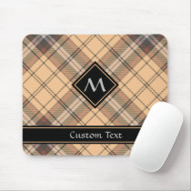 Beige and Brown Tartan Mouse Pad