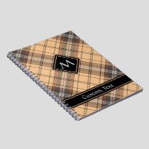 Beige and Brown Tartan Notebook