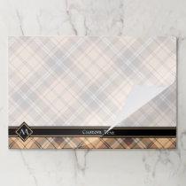 Beige and Brown Tartan Paper Pad