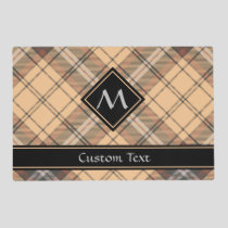 Beige and Brown Tartan Placemat
