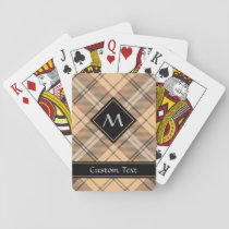 Beige and Brown Tartan Playing Cards