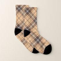 Beige and Brown Tartan Socks