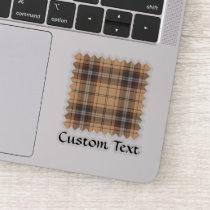 Beige and Brown Tartan Sticker