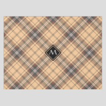 Beige and Brown Tartan Tablecloth