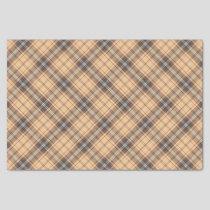 Beige and Brown Tartan Tissue Paper