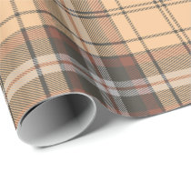 Beige and Brown Tartan Wrapping Paper