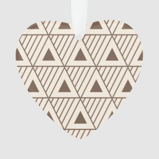 Beige and brown triangles ornament