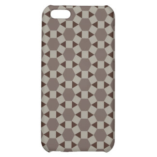 Beige and Browns Geometric Tessellation Pattern iPhone 5C Covers
