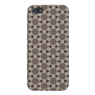 Beige and Browns Geometric Tessellation Pattern iPhone 5 Case