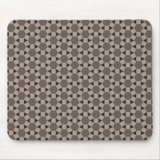 Beige and Browns Geometric Tessellation Pattern Mouse Pad