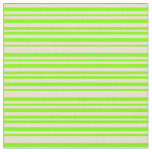 [ Thumbnail: Beige and Chartreuse Colored Stripes Pattern Fabric ]