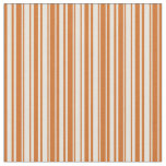 [ Thumbnail: Beige and Chocolate Lines Pattern Fabric ]