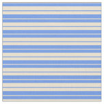 [ Thumbnail: Beige and Cornflower Blue Colored Pattern Fabric ]