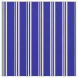 [ Thumbnail: Beige and Dark Blue Colored Stripes Pattern Fabric ]