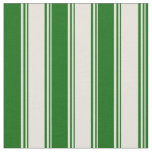 [ Thumbnail: Beige and Dark Green Colored Lines Fabric ]