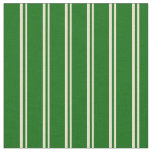[ Thumbnail: Beige and Dark Green Colored Pattern Fabric ]