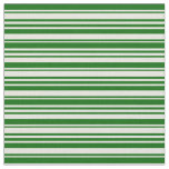 [ Thumbnail: Beige and Dark Green Colored Pattern of Stripes Fabric ]