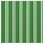 [ Thumbnail: Beige and Dark Green Colored Stripes Fabric ]