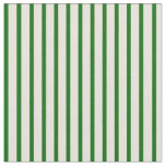 [ Thumbnail: Beige and Dark Green Lines Pattern Fabric ]