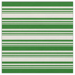 [ Thumbnail: Beige and Dark Green Lines/Stripes Pattern Fabric ]