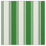 [ Thumbnail: Beige and Dark Green Pattern of Stripes Fabric ]