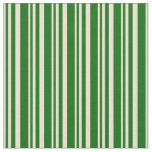 [ Thumbnail: Beige and Dark Green Stripes Fabric ]