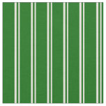 [ Thumbnail: Beige and Dark Green Stripes/Lines Pattern Fabric ]