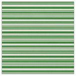 [ Thumbnail: Beige and Dark Green Stripes Pattern Fabric ]
