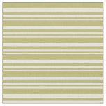 [ Thumbnail: Beige and Dark Khaki Colored Pattern Fabric ]