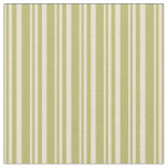 [ Thumbnail: Beige and Dark Khaki Stripes Pattern Fabric ]