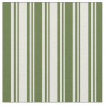 [ Thumbnail: Beige and Dark Olive Green Striped/Lined Pattern Fabric ]
