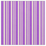 [ Thumbnail: Beige and Dark Orchid Colored Lines Fabric ]