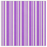 [ Thumbnail: Beige and Dark Orchid Lined Pattern Fabric ]