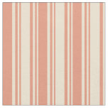 [ Thumbnail: Beige and Dark Salmon Colored Lines Fabric ]