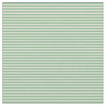 [ Thumbnail: Beige and Dark Sea Green Colored Stripes Pattern Fabric ]