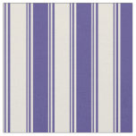 [ Thumbnail: Beige and Dark Slate Blue Lines Pattern Fabric ]