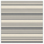 [ Thumbnail: Beige and Dim Gray Pattern Fabric ]