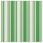 [ Thumbnail: Beige and Forest Green Colored Pattern Fabric ]
