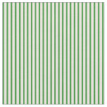 [ Thumbnail: Beige and Forest Green Stripes Pattern Fabric ]